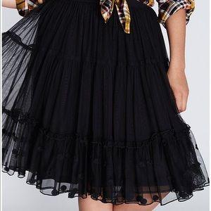 3a847a94b9 Lane Bryant Black Tulle Skirt - Size 26/28